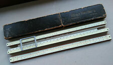 Albert Nestler slide rule, no.14, good condition, some ink spots, box quite worn