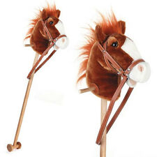 NEW REAL SOUNDS Neighing & Galloping Hobby Horse WOOD + WHEELS Childrens Toy