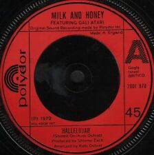 "MILK AND HONEY hallelujah 2001 870 near mint disc uk polydor 1979 7"" WS EX/"