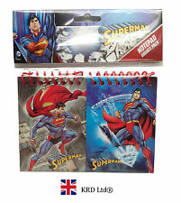 2x Kids SUPERMAN NOTEBOOK PACK Party Favors Bag Fillers Birthday Stationary Gift