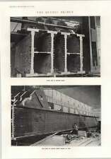 1914 Quebec PONTE principale Scarpa assemblato 400 TONNELLATE