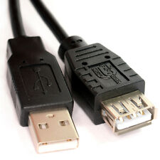 2m USB 2.0 EXTENSION Lead A Plug to Socket Cable BLACK