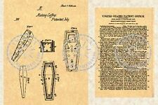 Patent for a COFFIN CASKET -  Corpse Funeral #336