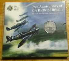 2015 50p fifty pence Battle Of Britain 75th anniversary BU  - no denomination.