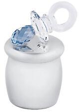 Chupete azul austríaco cristal caja de hada de los dientes de plata esterlina de Ari D Norman