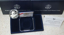1991-1995 WWII 50th Anniv US Mint Proof Silver Dollar Coin BOX & COA 1993 WW2