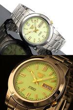 5 Reloj Para hombres Automático Seiko Lumibrite Esfera Japón SNKK 19J1 Reino Unido Vendedor