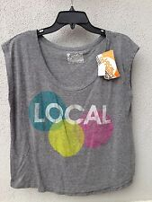 $45 NWT Local Celebrity Brand Gray Sleevless Local Graphic Design T Shirt Size L