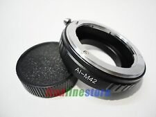 macro Nikon AI AI-S F Lens to M42 screw mount adapter Zeiss Pentax Mamiya + cap