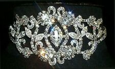 Rhinestone Victorian Style Choker  & Earrings..Silver Plated....... Beauitful!!!