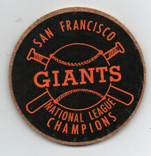 1960s San Francisco Giants National League Champion Coaster in Black