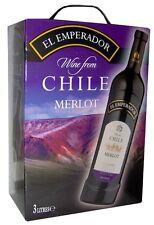 EL EMPERADOR MERLOT CHILE Bag in Box 3 Liter 12,5%vol