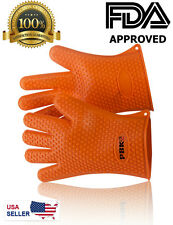Silicone Heat Resistant Gloves, Oven Mitts , Pot Holder ,  BBQ  Cooking  (pair)