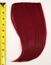 10'' Long Clip on Bangs Burgundy Red Cosplay Wig Hair Extension Accessory NEW