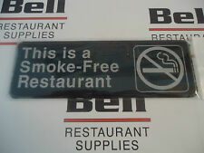 "*NEW* 3"" x  9"" Sign - THIS IS A SMOKE-FREE RESTAURANT"