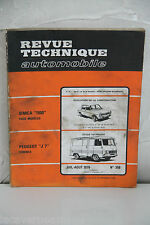 REVUE TECHNIQUE AUTOMOBILE de 1976 PEUGEOT J7 essence N°358