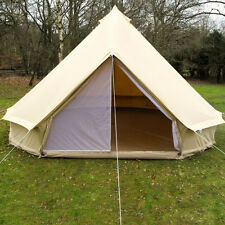 New 4m Canvas (ZIG) Zipped In Groundsheet Bell Tent By Karma Canvas