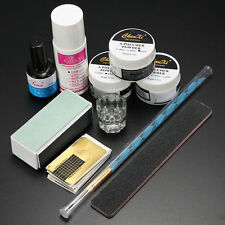 Nail Art Care Starter Kit Acrylic Powder Liquid UV GEL Brush Tips Manicure SET