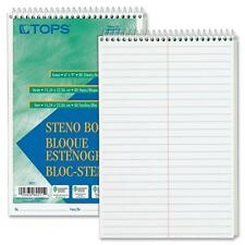 "Tops Steno Book Gregg Rule 80 Sheets/PD 6""x9"" 12/PK White 8020"