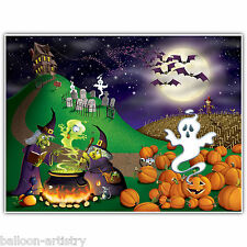 6ft Embrujada Fiesta De Halloween Spooky Night Scene Setter mural de pared Decoración