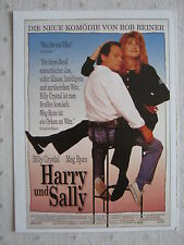 Filmplakatkarte cinema  Harry und Sally   Billy Crystal, Meg Ryan