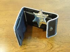 Vintage Ocean City Frontier Town Western Youth Leather Wallet with Deputy Badge
