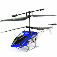 BLUE MINI INDOOR REMOTE CONTROL HELICOPTER RC KIDS TOY CHOPPER