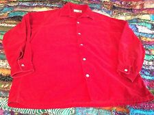 Red PINWHALE Corduroy top/shirt Sm/Med Cotton lg sl BAMBURGERS JAPAN FREE SHIP