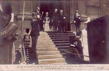Denmark - Le Roi et la Reine de Danemark à Paris 14 Juin 1907 unused postcard