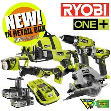 Ryobi P884 ONE+ 18-Volt Lithium-Ion ULTIMATE Combo Kit (6-Tool) NIB