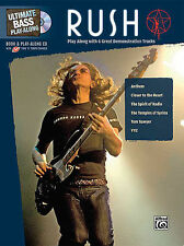 RUSH BASS GUITAR PLAY ALONG SONG BOOK GEDDY LEE *NEW*