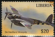 RAF de Havilland MOSQUITO DH.98 (WWII D-Day Livery) Aircraft Stamp (Liberia)