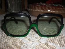 RARE Vintage 70s Rodenstock Germany Large Square Two Tone Sunglasses Sirona 130