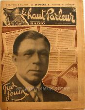 Le Haut parleur n°282 - 1931 - Fred Jouin - Moteur réglable et cone de Diffuseur