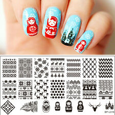 Russian Doll Christmas Nail Art Stamp Template Image Plate BORN PRETTY BP-L018
