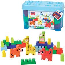 Ecoiffier Abrick Box mit Tier Maxi-Bausteinen (Blau)