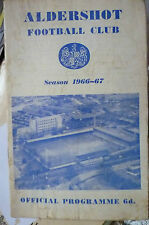 1967 Official Programme with LEAGUE REVIEW-  ALDERSHOT v WREXHAM, 22 Apr (Org*)