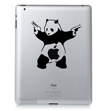 BANKSY PANDA. Apple iPad Mac Macbook Sticker Vinyl decal. Custom colour