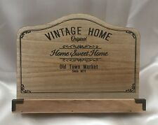 Vintage Home Wooden Recipe Book Holder Stand Shabby Chic