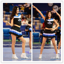 CHEERLEADER FANCY DRESS OUTFIT COSTUME WOMENS SPORTS TEAM UNIFORM S/M