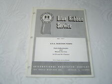 IH International B-275 TD-5 tractor fuel injection pumps nozzles service manual