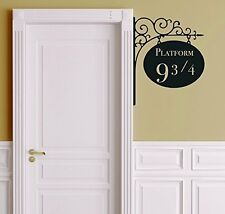 Platform 9 3/4 Harry Potter Door Decor Wall Decal Vinyl Sticker Free Shipping
