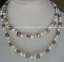 """freshwater pearl baroque multicolor 7-9mm 70"""" nature wholesale bead nature gift"""