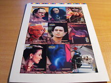 STAR TREK DS9 MEMORIES FROM THE FUTURE UNCUT SHEET OF ALIEN RACES CARDS