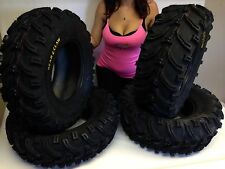 "2002-2013 POLARIS SPORTSMAN 700 25"" BEAR CLAW ATV TIRES FULL COMPLETE SET OF 4"