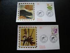 FRANCE - 2 enveloppes 1er jour 1992 (plantes des marais) (cy77) french