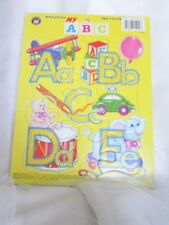 "VINTAGE Cardboard PUZZLE - ABC - PLAYMORE  9"" X 12""Preschool 12 pcs Children"