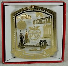 New York City Brass Christmas ORNAMENT Broadway Times Square Ball Wall St