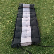 Thicken Self Inflating Air Pad Mattress Outdoor Hiking Camping Sleeping Bed Grey