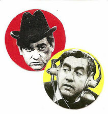 2 TONY HANCOCK BADGES. Comedy, classisc TV.